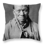 Taos Indian Circa 1905 Throw Pillow by Aged Pixel