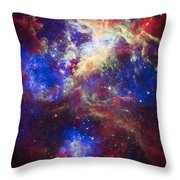 Tarantula Nebula 2 Throw Pillow by The  Vault - Jennifer Rondinelli Reilly