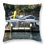 Taronga Zoo Wharf Throw Pillow by Steven Ralser