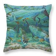 Tarpon Rolling In0025 Throw Pillow by Carey Chen