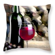 Tasting Time Throw Pillow by Elaine Plesser