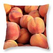Tasty Peaches Throw Pillow by Carol Groenen