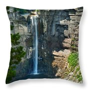 Taughannock Falls Throw Pillow by Christina Rollo