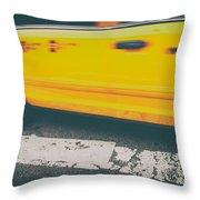 Taxi Taxi Throw Pillow by Karol Livote