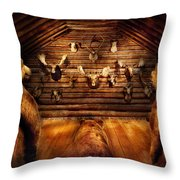 Taxidermy - Home Of The Three Bears Throw Pillow by Mike Savad