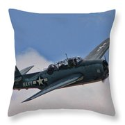 Tbm-3 Avenger Throw Pillow by Tommy Anderson