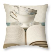Tea For Two Throw Pillow by Amy Weiss
