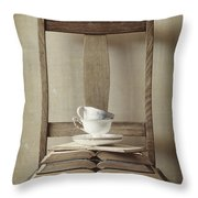 Tea Tales Throw Pillow by Amy Weiss