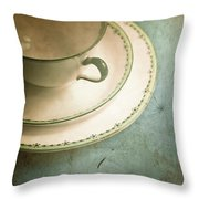 Tea Time Throw Pillow by Jan Bickerton