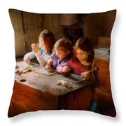 Teacher - Classroom - Education can be fun  Throw Pillow by Mike Savad