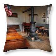 Teacher - First Day Of School Throw Pillow by Mike Savad