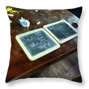 Teacher - School Slates Throw Pillow by Susan Savad