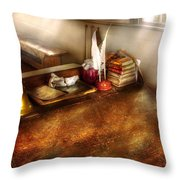 Teacher - The School Room Throw Pillow by Mike Savad