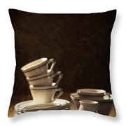 Teacups Throw Pillow by Amanda And Christopher Elwell