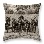 Team Of Eight Throw Pillow by Guy Whiteley