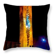 Tear Drop At Night Throw Pillow by Nick Zelinsky