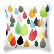 Tears Of An Artist Throw Pillow by Linda Woods