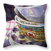 Teatime Throw Pillow by Marisa Gabetta