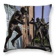 Tebow Spurrier And Wuerffel Uf Heisman Winners Throw Pillow by Lynn Palmer