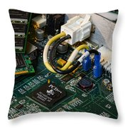 Technology - The Motherboard Throw Pillow by Paul Ward