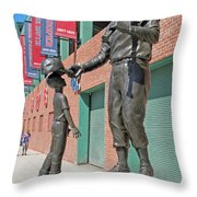Ted Williams Statue Throw Pillow by Barbara McDevitt