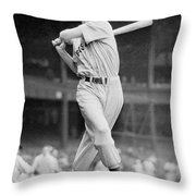 Ted Williams Swing Throw Pillow by Gianfranco Weiss