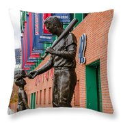 Teddy Ballgame Throw Pillow by Mike Ste Marie