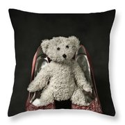 Teddy In Pumps Throw Pillow by Joana Kruse