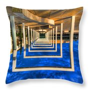 Tel Aviv jump Throw Pillow by Ron Shoshani