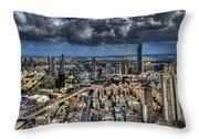 Tel Aviv Love Throw Pillow by Ron Shoshani