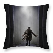 Temple Chase Throw Pillow by Carlos Caetano