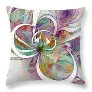 Tendrils 09 Throw Pillow by Amanda Moore