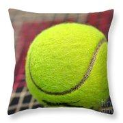 Tennis Anyone... Throw Pillow by Kaye Menner