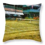 Tennis Hall Of Fame - Newport Rhode Island Throw Pillow by Michelle Calkins