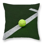 Tennis - The Baseline Throw Pillow by Paul Ward