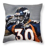 Terrell Davis  Throw Pillow by Don Medina