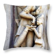 Testing Her Shoe Throw Pillow by C H Apperson