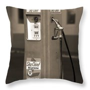 Texaco Skychief - Tokheim Gas Pump 2 Throw Pillow by Mike McGlothlen