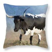 Texas Longhorn #7 Throw Pillow by Betty LaRue