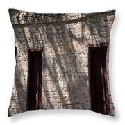 Texas Pioneer Church Doors Throw Pillow by Connie Fox