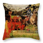 Texas Rodeo Throw Pillow by Corporate Art Task Force