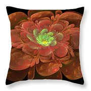 Textured Bloom Throw Pillow by Sandy Keeton