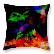 Textured Triangles With Color Throw Pillow by Phil Perkins
