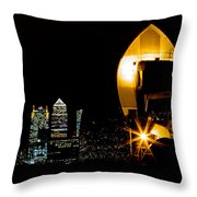 Thames Barrier Throw Pillow by Dawn OConnor