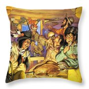 Thanksgiving Throw Pillow by Angus McBride