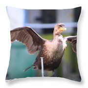 That Nail Is Not My Leg Throw Pillow by Kym Backland