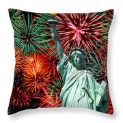 The 4th Of July Throw Pillow by Anthony Sacco