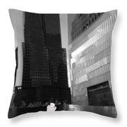 The 911 Memorial In Black And White Throw Pillow by Dan Sproul