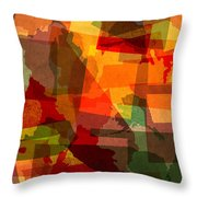 The Abstract States of America Throw Pillow by Design Turnpike