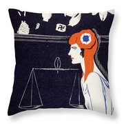 The Accused Throw Pillow by Paul Iribe